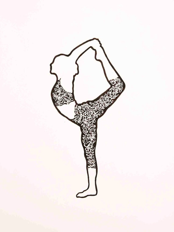 Line Drawing Yoga : How to draw yoga poses