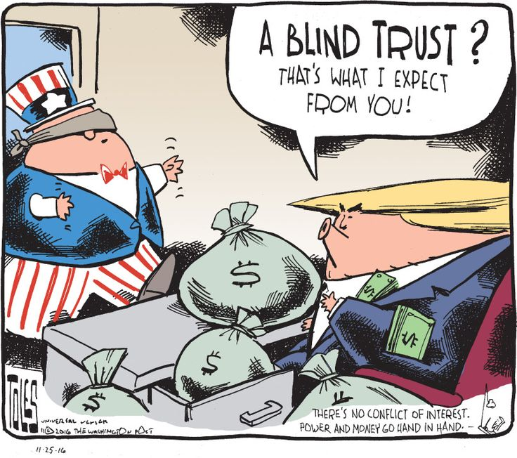 Trump to America - A blind trust? That's what I expect from you!