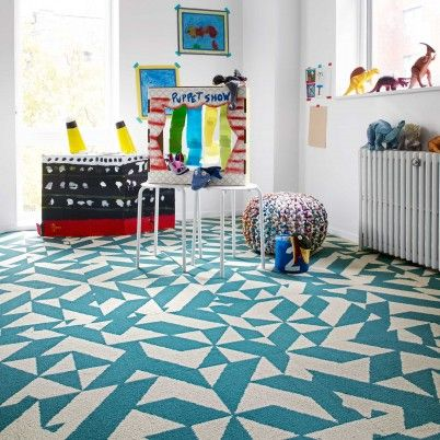 bring your space to life with twisted spokes carpet squares