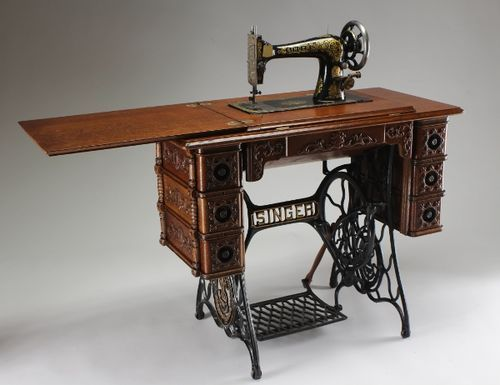 101 best treadle sewing machines images on pinterest treadle refinishing an antique sewing machine table by glenn huovinen lumberjocks woodworking sciox Choice Image