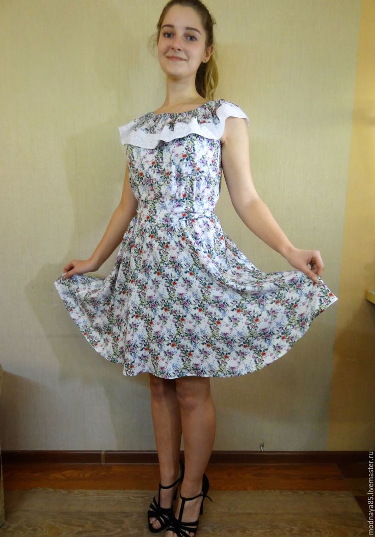"""Купить Платье """" РОЗОЧКИ"""" - комбинированный, короткое колье, платье летнее, платье для девочки"""