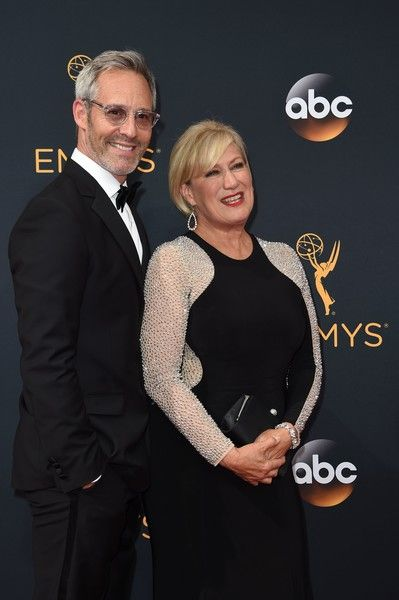 """Actor Michel Gill (L) and  actress Jayne Atkinson from the serie """"House of Cards"""" arrive for the 68th Emmy Awards on September 18, 2016 at the Microsoft Theatre in Los Angeles.  / AFP / Robyn Beck"""