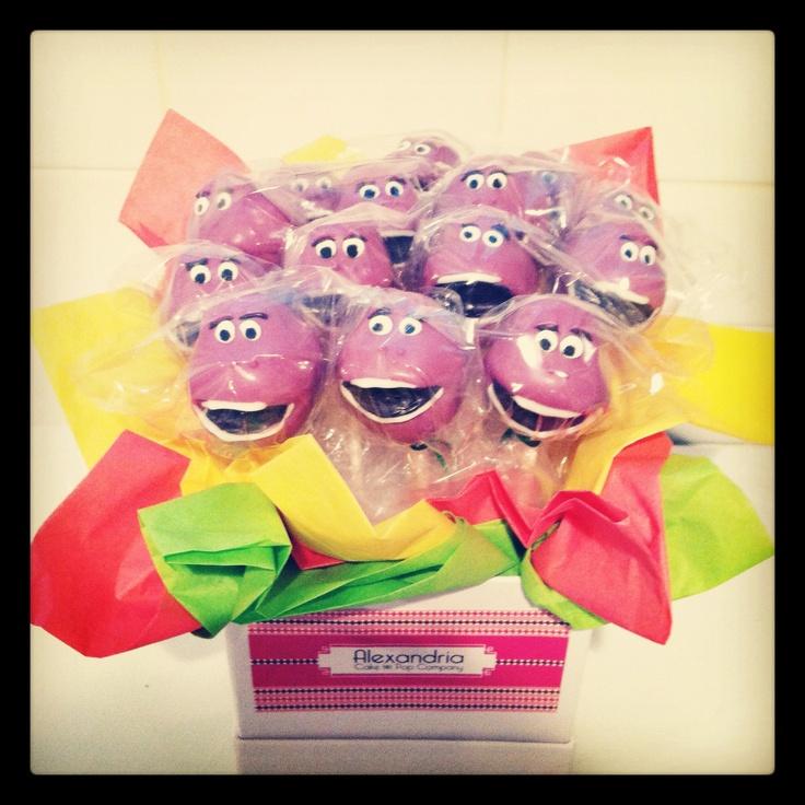 barney cake pops - photo #7