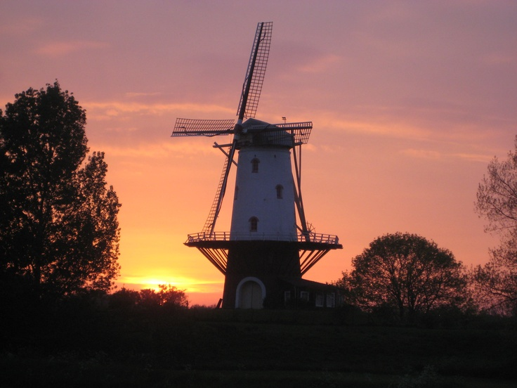 In Zeeland, a Dutch windmill