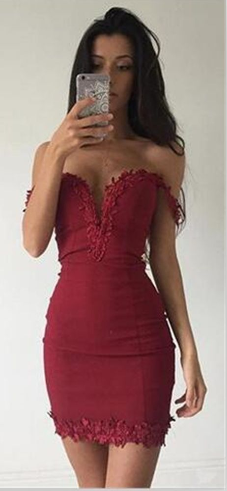 Lace Homecoming Dress,Off the shoulder Party Dress,Graduation Dress,Sweetheart Homecoming Dresses,sexy Short Prom Dress