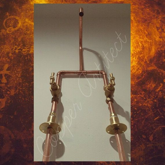 Rose Gold 15mm Copper Pipe Basin Sink Tap Mixer Luxury Home