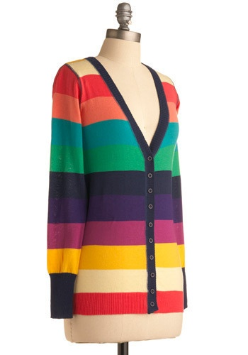 Greeting Rainbows Cardigan from ModCloth: $65