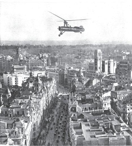 16 / 02 / 1934 Juan de la Cierva sobrevuela Madrid en su autogiro