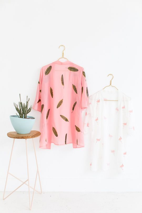 DIY poolside pattern kimonos