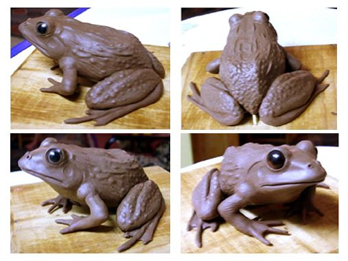 Clay Model of The Cape River Frog Puppet before casting