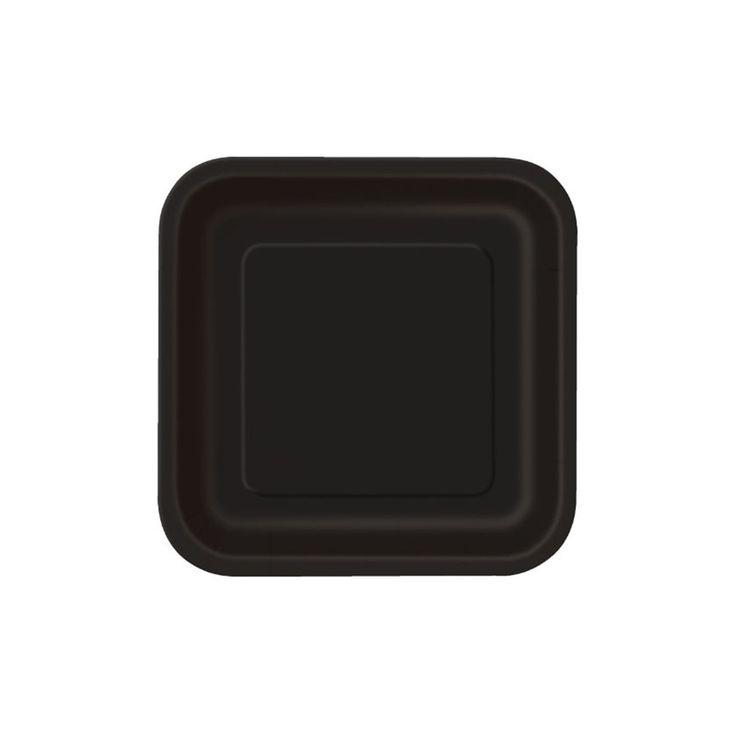 Χάρτινα πιάτα γλυκού για πάρτυ σε μαύρο χρώμα