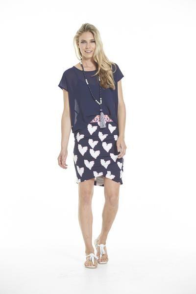CHARLO Portia Heart Skirt
