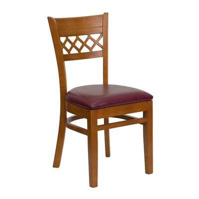Flash Furniture Hercules Series Lattice Back Solid Wood ...
