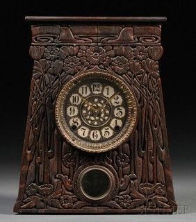 Artisan Arts & Crafts Movement Mantel Clock. I could stare at this forever.