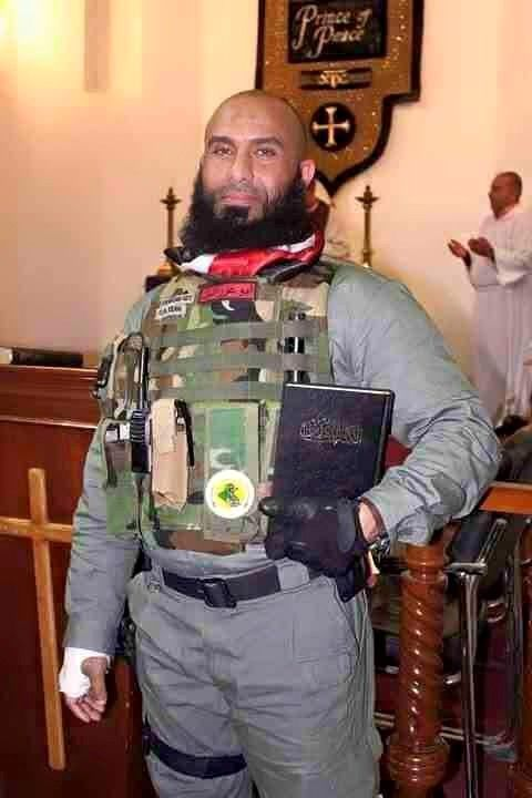 Anthony Droz shares... Abu Azrael (A.k.A. The Angel of Death) ■ 1500 confirmed kills, many of which with a sword.  ■ Christian from Iraq originally. This one man wrecking ball has not only stood up but advanced forward behind enemy lines to take the fight to this terror group that wishes to do harm to so many people around the world. Thank you Abu. ‪#‎WorldLeadersTakeNotes‬ ‪#‎WeNeedMoreLikeHim‬