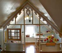 terrific attic room