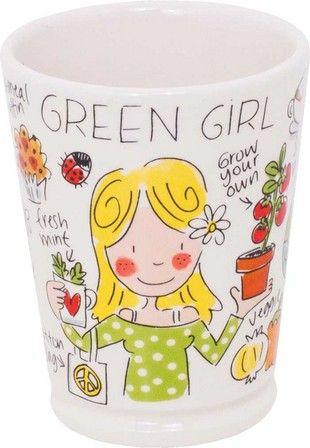 Mok his/hers Green girl van Blond-Amsterdam - Blond-Amsterdam officiële website