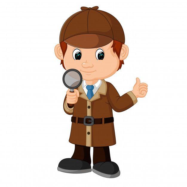Nino Detective Dibujos Animados Con Lupa Free Vector Freepik Freevector Freeninos Freemano Freehombre Detective Detective Conan Fiesta De Detective