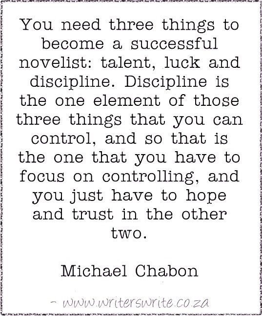 Quotable - Michael Chabon - Writers Write Creative Blog