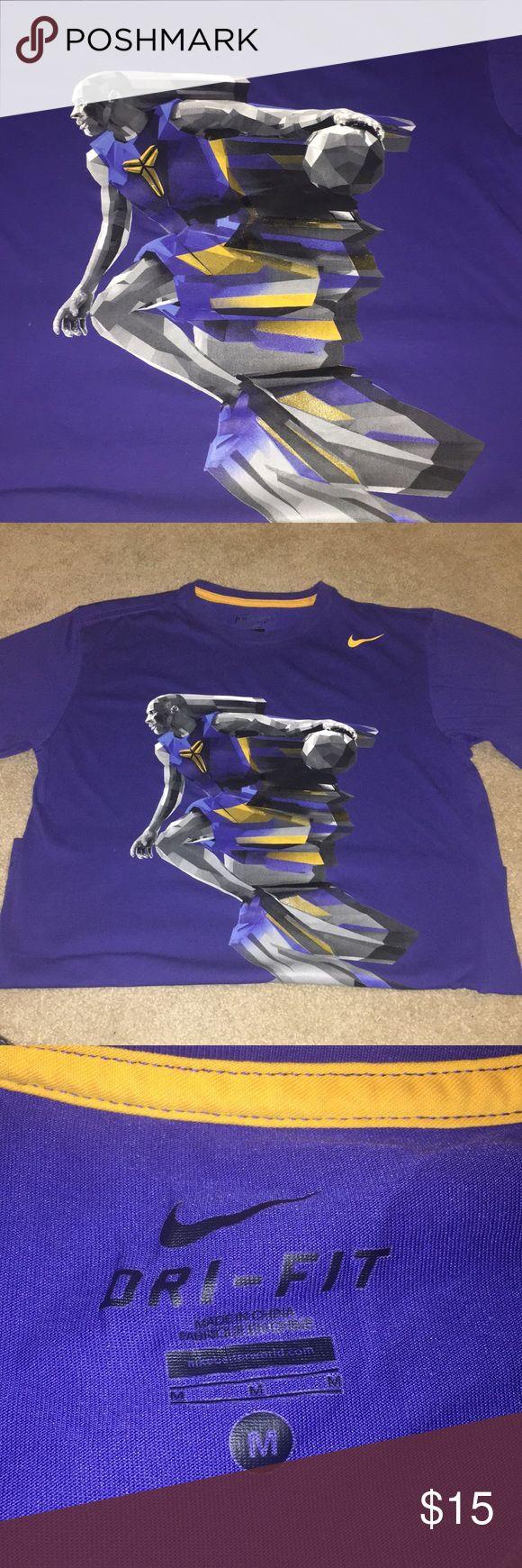 Nike Men's Kobe Bryant's Tee Dri fit Nike Tee Kobe Bryant . Purple gold and size med . Good condition Nike Shirts Tees - Short Sleeve