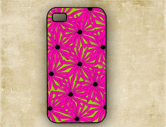 Groovey Neon fashion pink flowers Iphone 4s case by ToGildTheLily, $16.99: Iphone 4S, Fashion Pink, Groovey Hot, Flowers Iphone, Hot Pink Flowers, Iphone 4 Cases, Groovey Neon, Bright Colors
