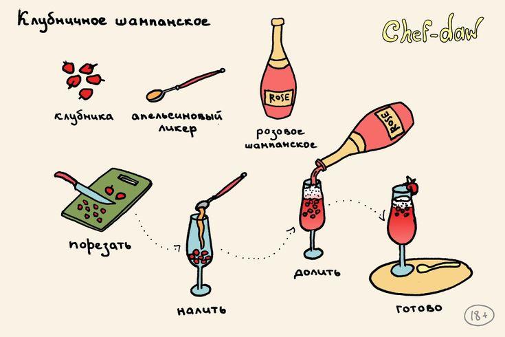 20 коктейлей в простых и крутых картинках - Только самое интересное