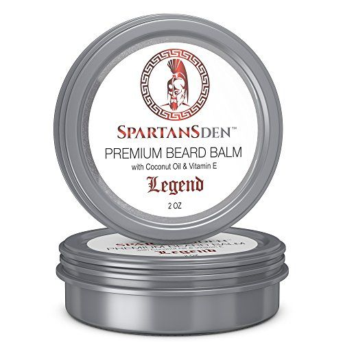 SALE  Spartans Den Premium Beard Balm  Beard Conditioner For Growth Soften Itch Grooming  Frizz  Coconut Oil  Vitamin E Infused  Legend 2oz ** You can find out more details at the link of the image.