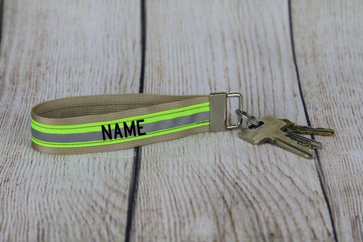 Firefighter Keychain Wristlet with Reflective Trim