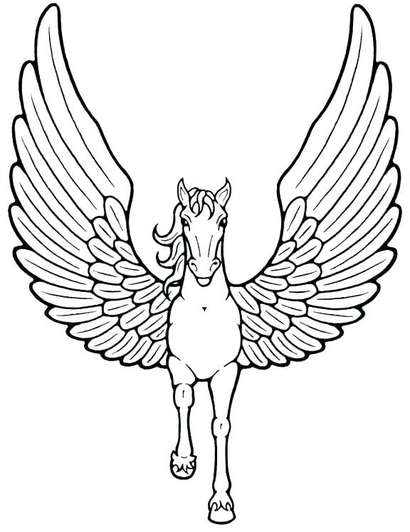 Free Pegasus Coloring Pages