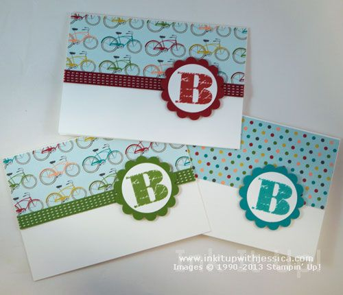 These Personalized Monogram Cards would make a great teacher gift!