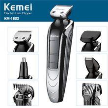 T028 5 em 1 corte de cabelo maquina de cortar o cabelo homens styling ferramentas de máquina de cortar cabelo aparador de barba barbeador elétrico máquina de barbear alishoppbrasil