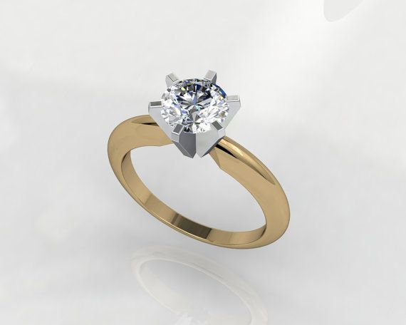 Solitaire  Diamonds 3D CAD STL File Format Ring by PiettroJewelry, $20.00