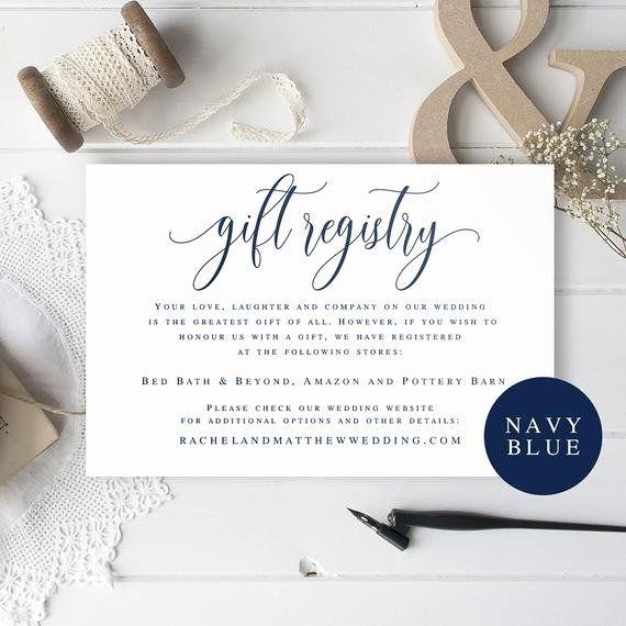 Wedding Registry Card Template Fresh Gift Registry Card Template Wedding Enclosure Card Gift Registry Cards Wedding Registry Cards Registry Cards