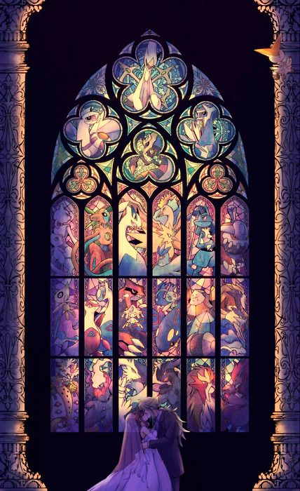 OMG! En una iglesia así, si me caso!! #Pokemon
