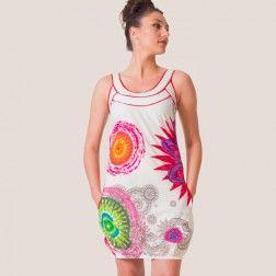 robe wanda blanc coton du monde boutique en ligne de v tements ethniques pour femmes on adore. Black Bedroom Furniture Sets. Home Design Ideas
