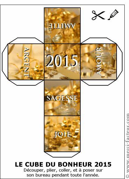 carte le cube du bonheur pour la nouvelle ann e pour envoyer par la poste sur merci facteur. Black Bedroom Furniture Sets. Home Design Ideas