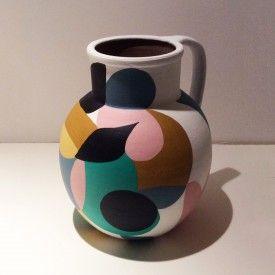 Liselotte Watkins Collage Series Ceramics | LaDoubleJ