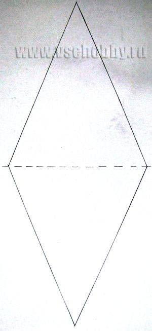 шаблон бумажного флажка