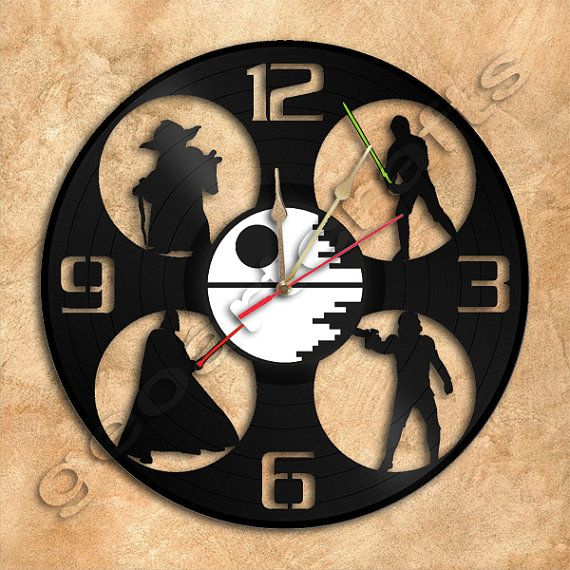 Wall Clock Star Wars Vinyl Record Clock Upcycled by geoartcrafts