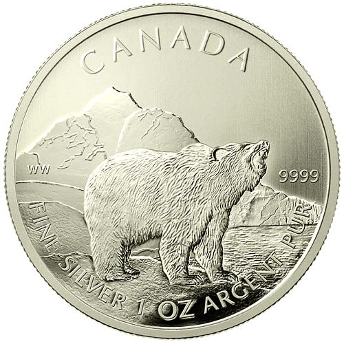 2011 Canadian Silver Grizzly- MintProducts.com - 2nd coin released in the Canadian Wildlife Series!