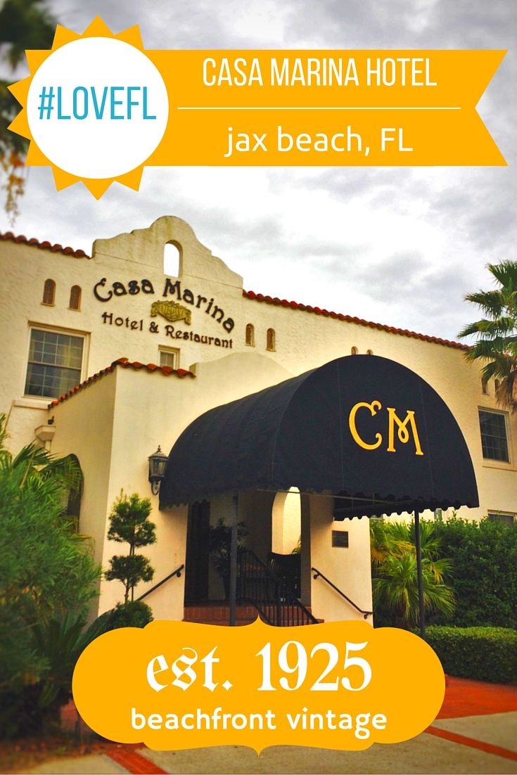 Review and photos of the Casa Marina Hotel in Jacksonville Beach, Florida. Beautiful historic hotel directly on the beach.  2traveldads.com