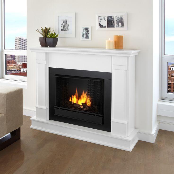 Real Flame Silverton Electric Fireplace | Wayfair (white)