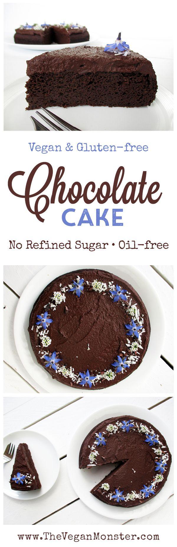 Chocolate cake. Vegan, gluten-free, oil-free.