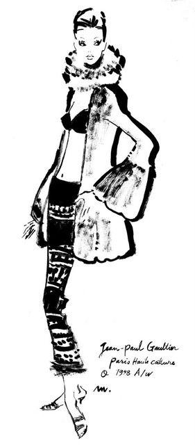 J.P.ゴルチェ 1998年コレクション原画