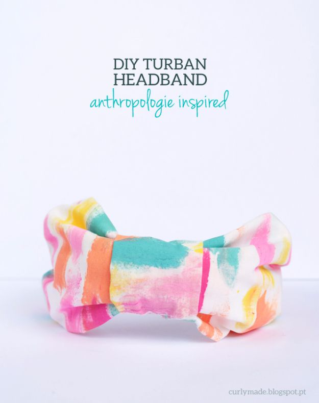 DIY Projects for Teenagers – Anthropologie Inspired DIY Turban Headband – Cool T…