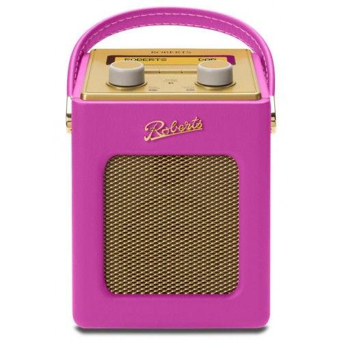 Roberts Tropical Revival Mini DAB/DAB+/FM Digital Radio Hot Pink