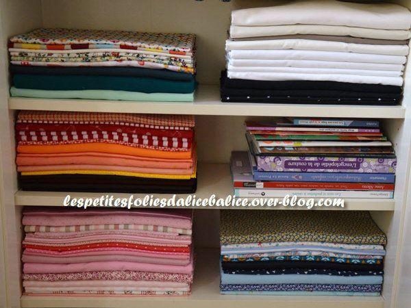 17 meilleures id es propos de plier des chemises sur for Rangement tissu couture