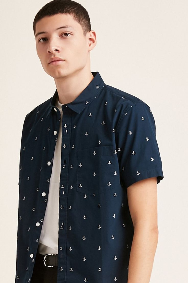 Product Name:Anchor Print Shirt, Category:mens-main, Price:17.9