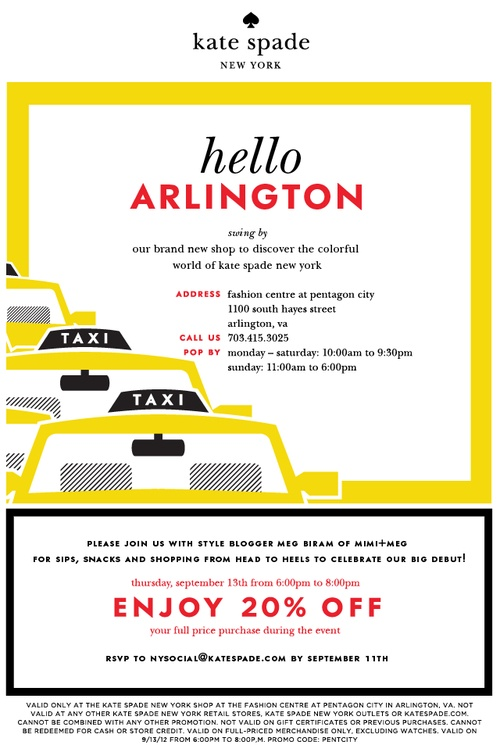 EVENT: @kate spade new york Launch Party @FashionCtrPC TONIGHT! Join @Meg Biram... #DCStyleSyndicate