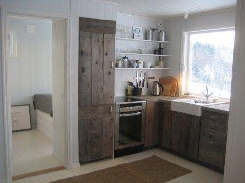 barn board cabinets | kitchen ideas | Pinterest | Wood ...